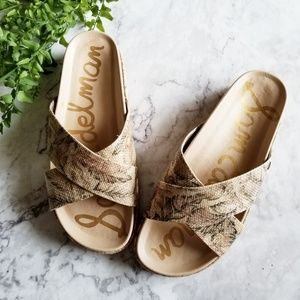 Sam Edelman | Sadia Floral Raffia Slide Sandals